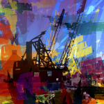 Hudson River Crane